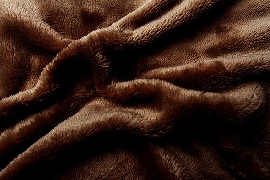 Obrázok z Prostěradlo mikroflanel tmvě hnědá 180x200x20 cm