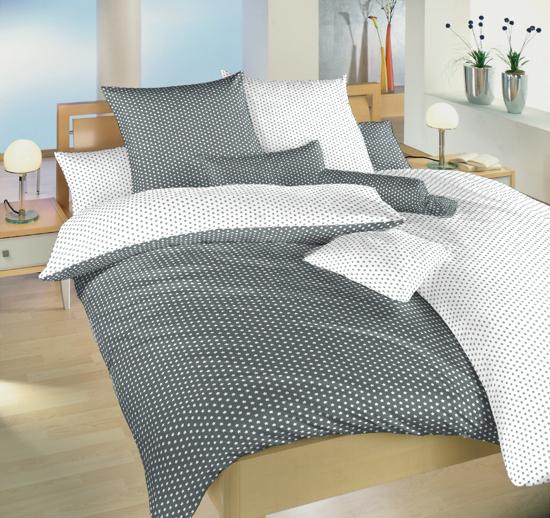 Obrázok z Povlečení bavlna Hvězdička bílá/šedá DUO 40x50 cm povlak