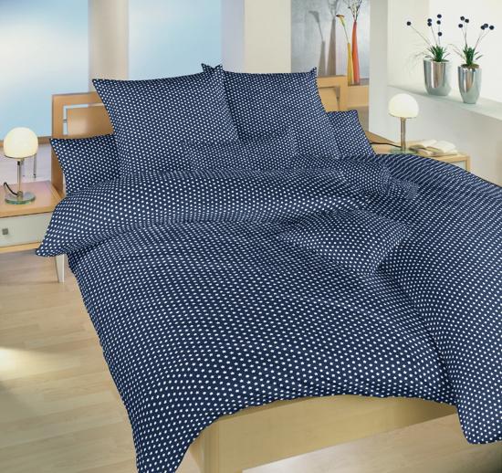 Obrázok z Povlečení bavlna Hvězdička bílá na tmavě modrém 40x40 cm