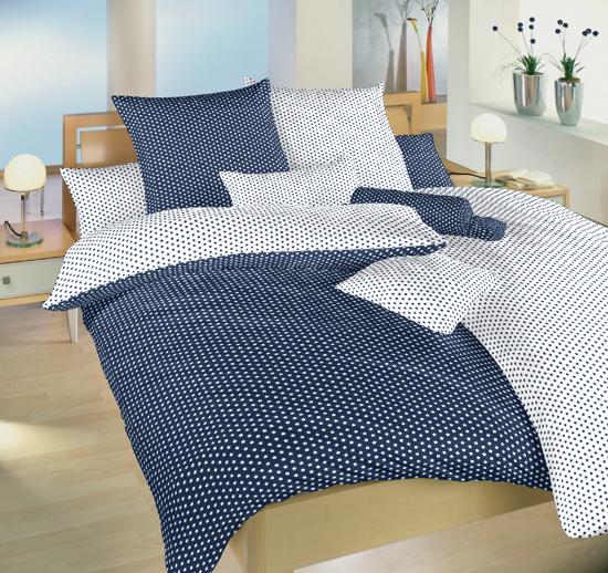 Obrázok z Povlečení bavlna Hvězdička bílá/tmavě modrá DUO 40x50 cm