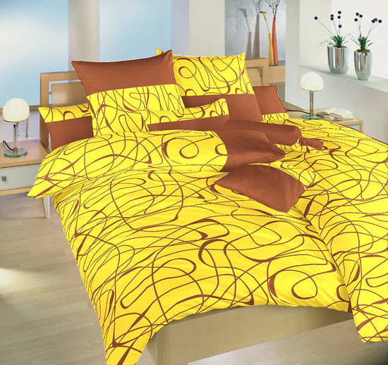 Obrázok z Povlečení satén Balerína žlutá 240x200, 2x70x90 cm