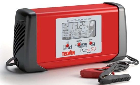 Obrázok z Microprocesorová automatická nabíjačka Doctor Charge 50 Telwin