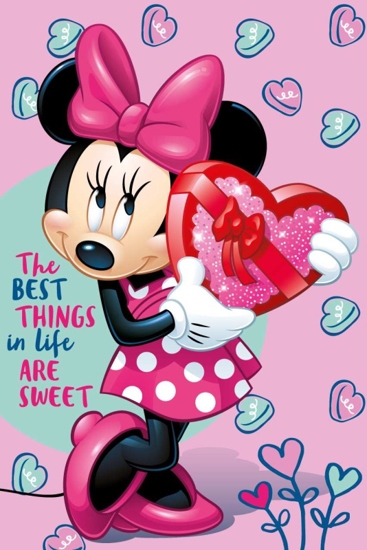 Obrázok z Dětská fleecová deka Minnie pink 100x150 cm