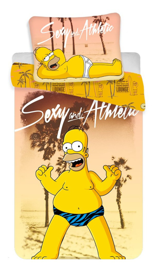 Obrázok z Povlečení Simpsons Homer beach 140x200, 70x90 cm