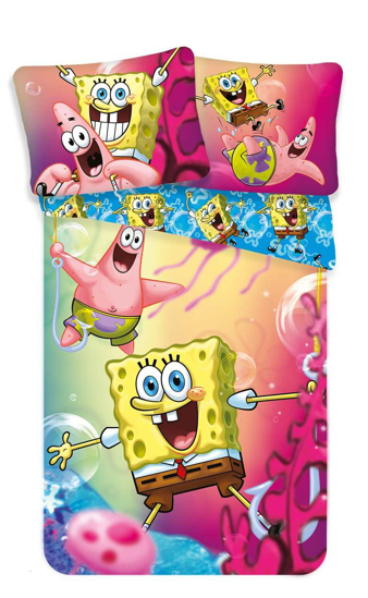 Obrázok z Povlečení Sponge Bob blue 140x200, 70x90 cm