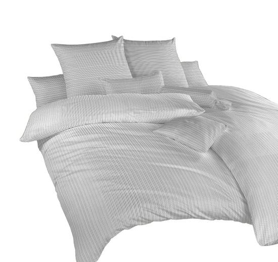 Obrázok z Povlečení bavlna Linea černá 240x200, 2x70x90 cm