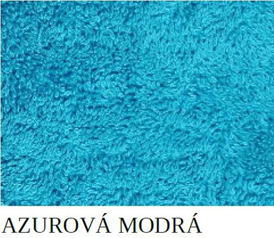 Obrázok z Osuška Viola azurově modrá 70x140 cm