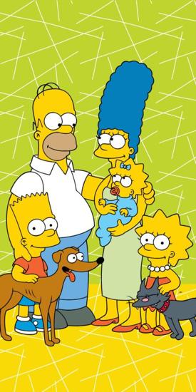 Obrázok z Osuška Simpsons family green 02 70x140 cm