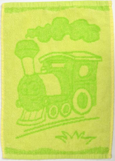Obrázok z Dětský ručník Train green 30x50 cm