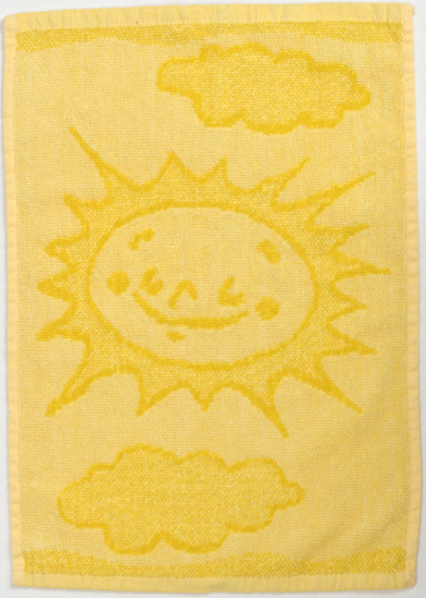 Obrázok z Dětský ručník Sun yellow 30x50 cm