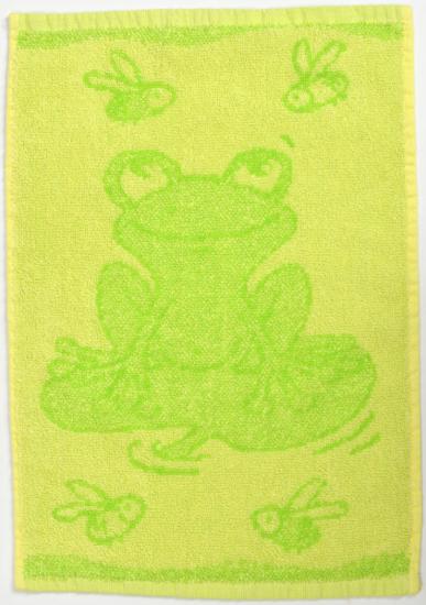 Obrázok z Dětský ručník Frog green 30x50 cm