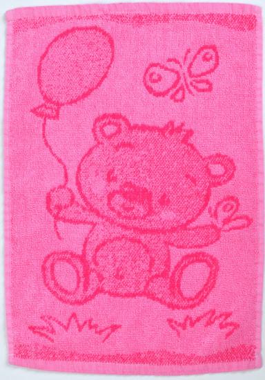 Obrázok z Dětský ručník Bear pink 30x50 cm