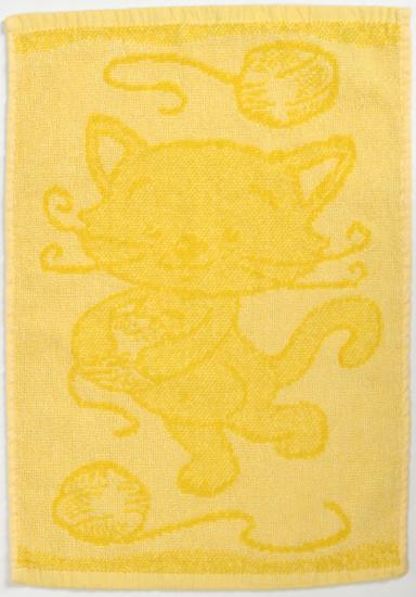 Obrázok z Dětský ručník Cat yellow 30x50 cm