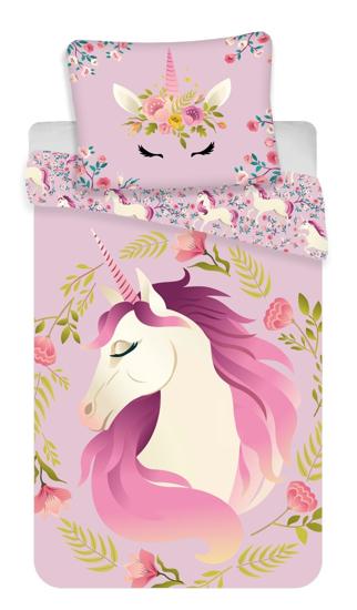 Obrázok z Povlečení fototisk Unicorn flowers 140x200, 70x90 cm
