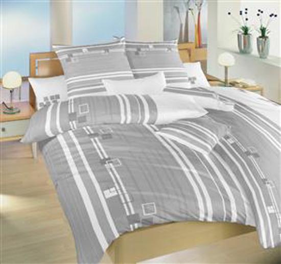 Obrázok z Povlečení bavlna Kostky šedé 140x200, 70x90 cm II.jakost