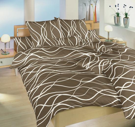 Obrázok z Povlečení bavlna Vlny banánové 140x200, 70x90 cm II.jakost