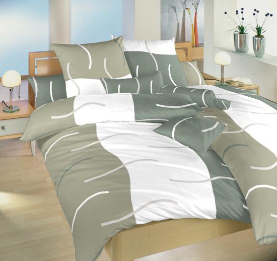 Obrázok z Povlečení bavlna Island šedý 140x200, 70x90 cm II.jakost