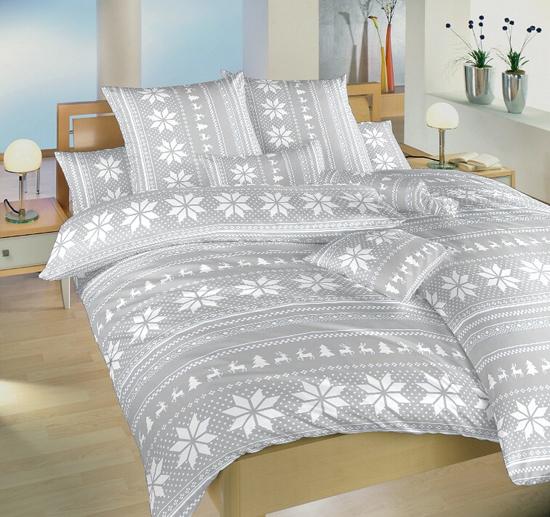 Obrázok z Povlečení bavlna Sobi šedí 140x200, 70x90 cm II.jakost