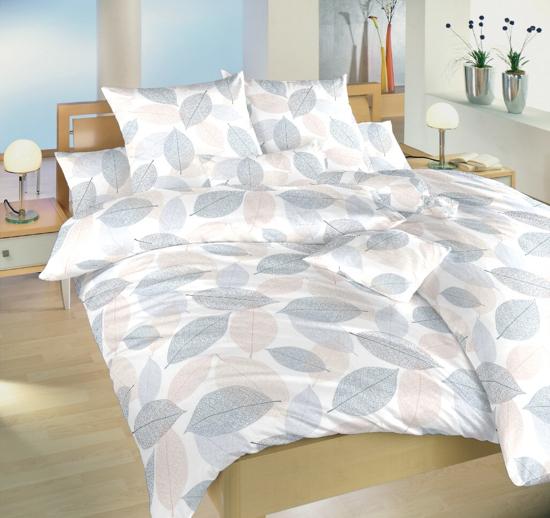Obrázok z Povlečení bavlna Podzim modrý 240x200, 2x70x90 cm