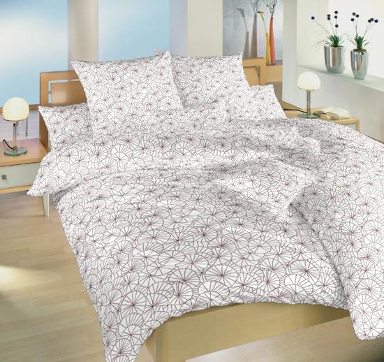 Obrázok z Povlečení bavlna Leknín bordó 240x200, 2x70x90 cm