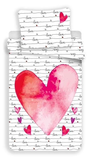 Obrázok z Povlečení fototisk Love 140x200, 70x90 cm