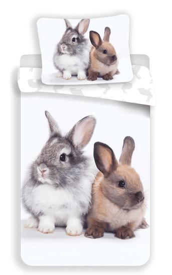 Obrázok z Povlečení fototisk Bunny friends 140x200, 70x90 cm