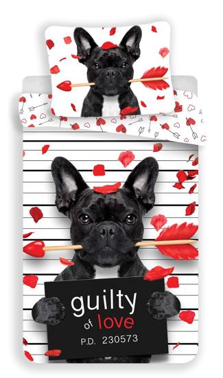 Obrázok z Povlečení fototisk Bulldog heart 1400x200, 70x90 cm
