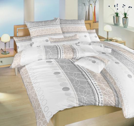 Obrázok z Povlečení bavlna Ateliér béžový 240x200, 2x 90x70 cm II.jakost