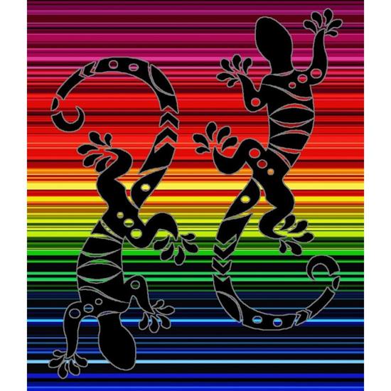 Obrázok z Plážová osuška MAXI Dvě ještěrky 100x180 cm