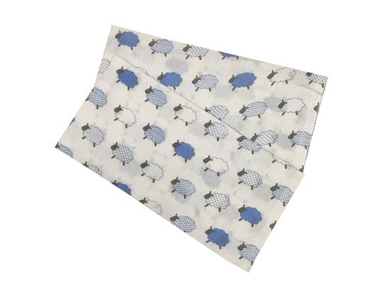 Obrázok z Bambusová plena 70x70 cm - Ovečky malé modré  (balení 5 ks)