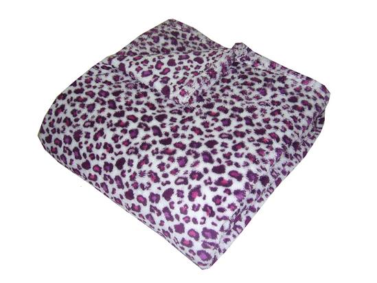 Obrázok z Super soft deka Safari Gepard fialový 150x100 cm