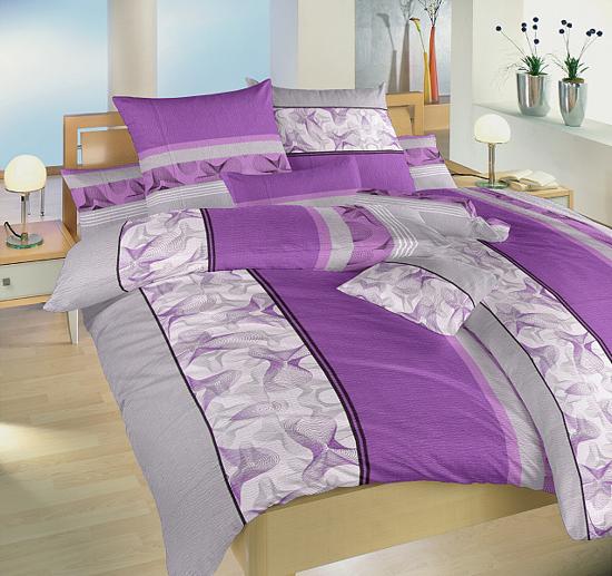 Obrázok z Krepové povlečení Medúza fialová 220x200, 2x70x90 cm II.jakost