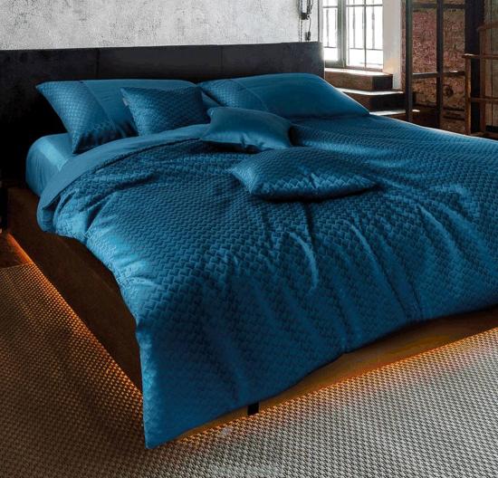 Obrázok z Povlečení damašek Vivien Industrial modrý 140x200, 70x90 cm