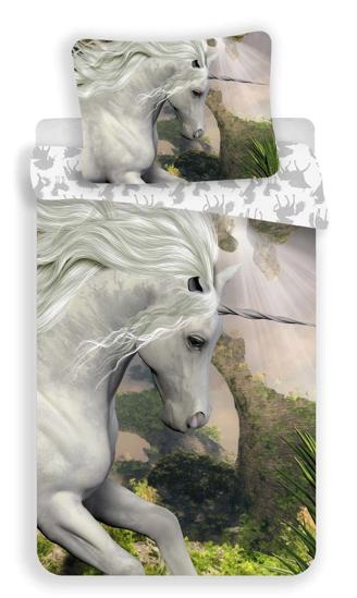 Obrázok z Povlečení Jednorožec white 140x200, 70x90 cm