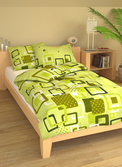 Obrázok z Povlečení bavlna Lékorky zelené 140x200, 70x90 cm