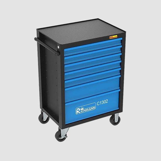 Obrázok z Montážní vozík s nářadím, 7 zásuvek, 135dílů