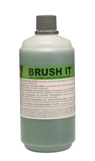 Obrázok z Čistiaca kvapalina pre čistenie nerezových zvarov malých plôch Brush IT 1 lt Telwin