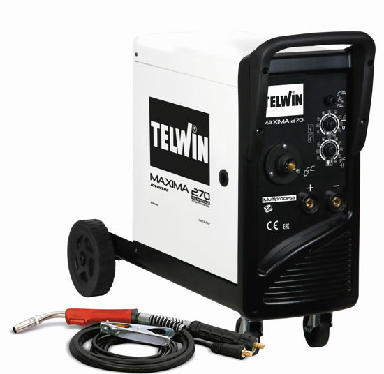 Obrázok z Zváračka CO2 - Zvárací invertor CO2 (MIG-MAG) / MMA / TIG Maxima 270 Telwin