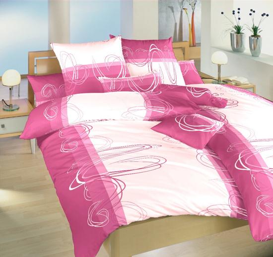 Obrázok z Povlečení bavlna Smyčky ostružina 140x220, 70x90 cm II.jakost