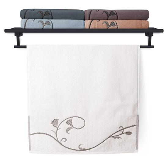 Obrázok z Ručník Terry Floral Dance 036 bílý 50x100 cm
