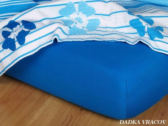 Obrázok z Jersey prostěradlo modř královská 80x200x18 cm