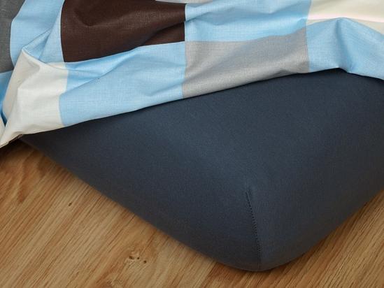 Obrázok z Jersey prostěradlo tmavě šedé 160x200x18 cm II.jakost