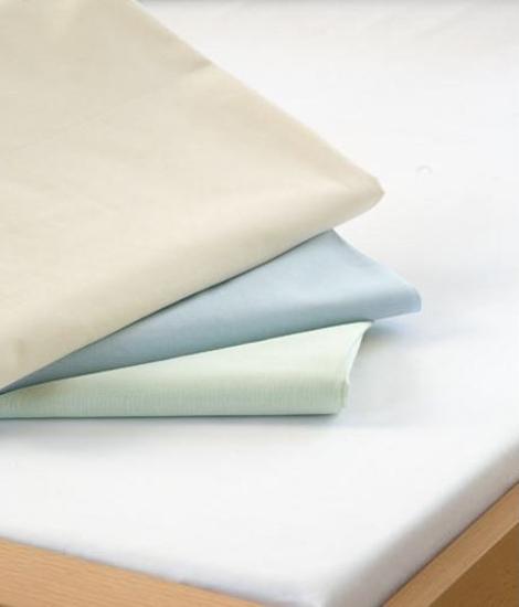 Obrázok z Bavlněná plachta do gumy bílá 90x200x15 cm Nestandard