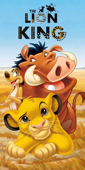 Obrázok z Osuška Lion King 01 70x140 cm