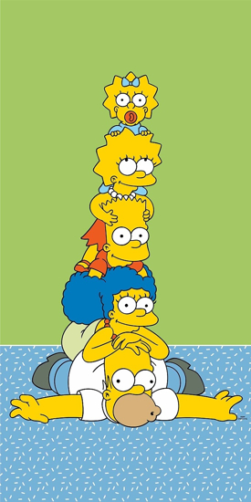 Obrázok z Osuška Simpsons family tower 70x140 cm