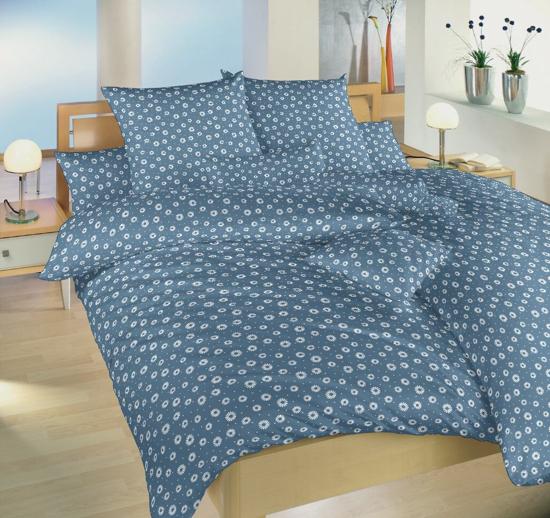 Obrázok z Krepové povlečení Eliška modrá 140x200, 70x90 cm II.jakost