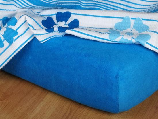 Obrázok z Froté prostěradlo královsky modré 150x150x15 cm II.jakost