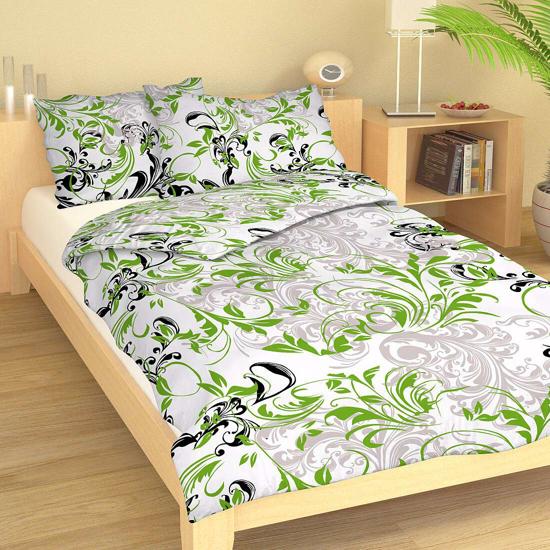 Obrázok z Povlečení bavlna Alfons zelený 140x200, 70x90 cm