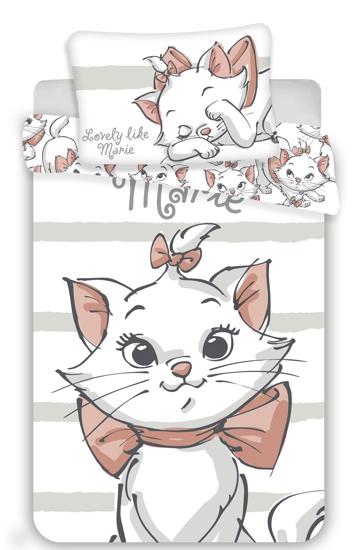 Obrázok z Disney povlečení do postýlky Marie cat white baby 100x135, 40x60 cm