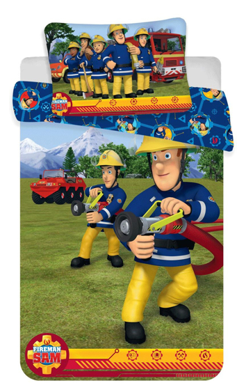 Obrázok z Disney povlečení do postýlky Požárník Sam blue baby 100x135, 40x60 cm